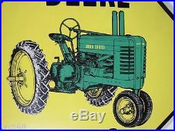 JOHN DEERE Deere Xing metal Sign farm tractor advertising feed seed store