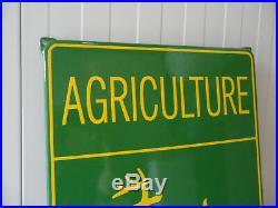 JOHN DEERE Equipment Agriculture Service Sub Dealer Porcelain Enamel Steel Sign