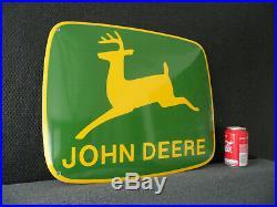 JOHN DEERE FARM EQUIPMENT DEALER Plaque Emaillee Porcelain Emaille Sign #555