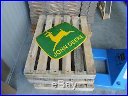 JOHN DEERE Farm Equipment European Quality Porcelain Enamel Advertising Sign