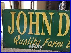 JOHN DEERE Metal Sign Farm Barn Vintage Industrial Tractor 33 x 11 Decor