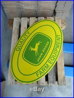 JOHN DEERE Quality Farm Equipment Porcelain Enamel XXL Advertising Sign