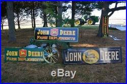 JOHN DEERE SMALTS PLOW SIGN Vintage Look Farm Advertising
