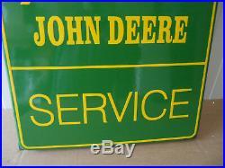 JOHN DEERE Sales & Service Plaque Emaillee XL Porcelain Enamel Sign #471