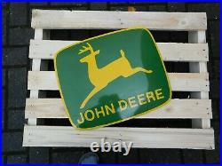 JOHN DEERE Tractor Dealer European Quality Porcelain Emaille Advertising Sign