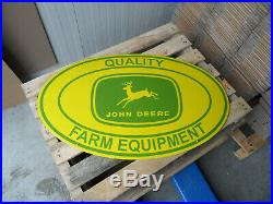 JOHN DEERE XXL Quality Farm Equipment Enamel Porcelain Metal Advertising Sign