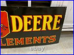 JOHN DEERE X-LARGE, HEAVY PORCELAIN SIGN (52x 17) NEAR MINT, GREAT SIGN