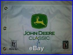 JORDAN SPIETH Signed. JOHN DEERE CLASSIC Golf Flag