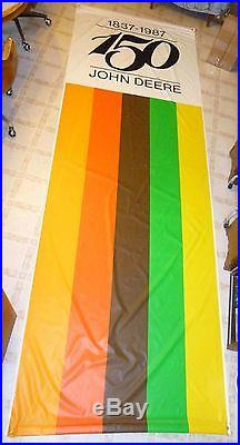 John Deere 150th Anniversary Rare Large 1987 vertical antique Banner 4x12
