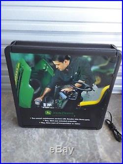 John Deere 26 x 26 Lighted Sign Display 2003 Mobile Warranty Service