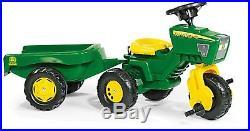 John Deere 3 Wheel Tractor WithTrailer