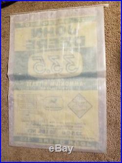 John Deere Ammonium Fertilizer Bag Vintage 1950s Farm Corn Sack old Sign barn