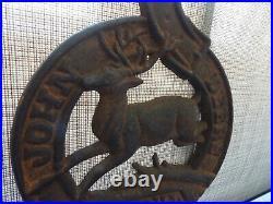 John Deere Antique Cast Iron Pocket Plaque -letter Box- 1847