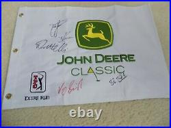 John Deere Classic pin flag signed/Auto 5 winners