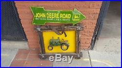 John Deere Collectible Street Sign and Older Custom Hanging Art