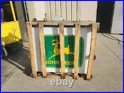 John Deere Dealer Sign in the crate 50 inches x 46 inches x 8.5