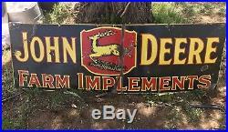 John Deere Double Sided Porcelain Sign