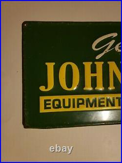 John Deere Embossed Sign Genuine John Deere Equipment, Parts & Service