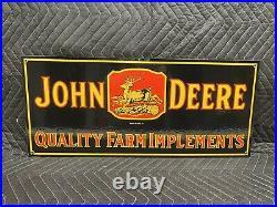 John Deere Farm Implement Porcelain Metal Sign