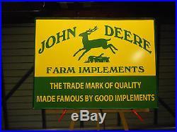 John Deere Farm Implements Lighted Sign