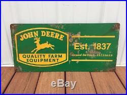 John Deere Farm Machinery Litho Metal Sign
