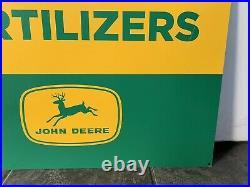 John Deere Fertilizers Metal Sign
