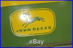 John Deere Fertilizers Porcelain Sign Gas Service Garage Farm Tractor Seed Feed