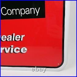 John Deere Homelite Dealer Sign Embossed Sign 17 3/4 x 24 NOS