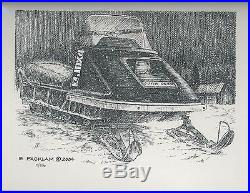 John Deere JDX4 Snowmobile 11x14 Matted Limited Edition Signed Print #'d 1/500