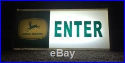 John Deere Lighted Enter Sign 1960s Advertising Dealership Sign