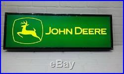 John Deere Lighted sign 30x10x3 inch deep