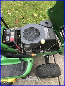 John Deere Lt133 Garden Tractor 13hp 38 Deck Mower New Battery & Blades Manual