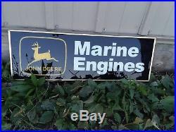 John Deere Marine Engines Dealership Sign 60s