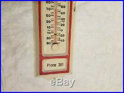 John Deere Mayer Feed Mill Thermometer Sign Farm Tractor Old Original Vintage