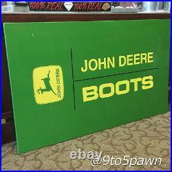 John Deere Metal Sign Large 40 X 24 John Deere Boots Tractors Farming
