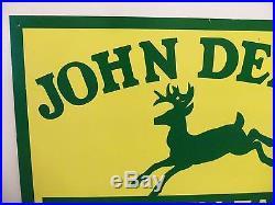 John Deere Metal Sign Vintage Farm Equipment Tractor Garage Gas Station Barn