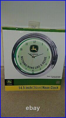 John Deere Neon Clock Nothing Runs Like a Deere