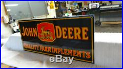 John Deere Porcelain Advertising Sign (dated 1934), Very Nice Condition