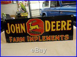 John Deere Porcelain Gas Motor Oil Service Station Farm Implements Sign