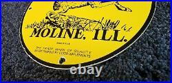 John Deere Porcelain Illinois Tractor Vintage Style Farm Dealership Service Sign