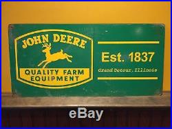 John Deere Quality Farm Equipment Metal Litho Sign