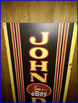 John Deere Quality Farm Equipment Metal Shop Sign 15x46