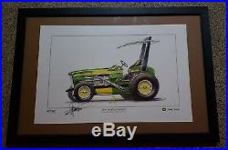 John Deere Sign Autograph Jsa Chip Foose 4020 Dealer Advertising Farm Equipment