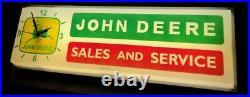 John Deere Sign / Clock