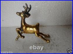 John Deere Sign Vintage Brass Rare Statue Running Deere Rich Patina