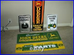 John Deere Signs Lot Of Five