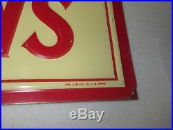 John Deere Syracuse Chilled Plows Metal Tin Vintage old Advertising Sign