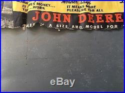 John Deere TOPS Two Cylinder Tractor Advertisement Vintage Cardstock Sign