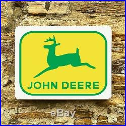 John Deere Tractor Illuminated Led Light Box Wall Garage Sign Agricultural Xr8