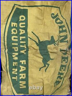 John Deere Vintage Advertising Banner Banners Sign Signs 1940s-50s Four Legged
